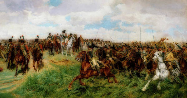 Wall Art - Painting - Friedland by Ernest Meissonier