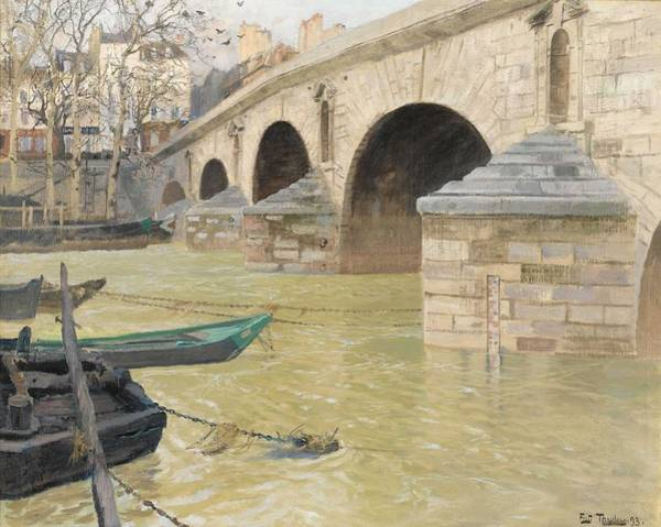 Wall Art - Painting - Frits Thaulow 1847 - 1906  The Pont Marie  Paris by Frits Thaulow