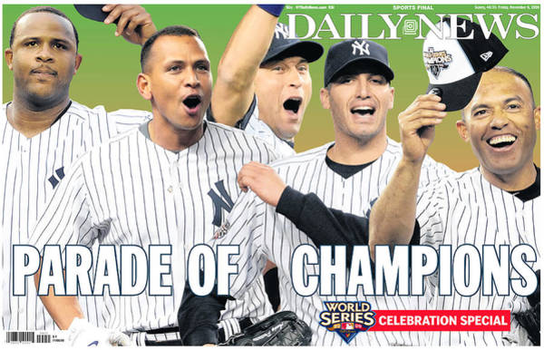 Front Page Photograph - Front Page Wrap Of The Daily News by New York Daily News Archive