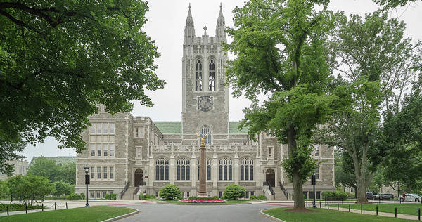 Wall Art - Photograph - Front View Of Gasson Hall, Chestnut by Panoramic Images