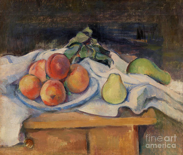 Wall Art - Painting - Fruit On A Table by Paul Cezanne