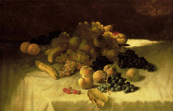 Painting - Fruit Piece by Carducius Plantagenet Ream