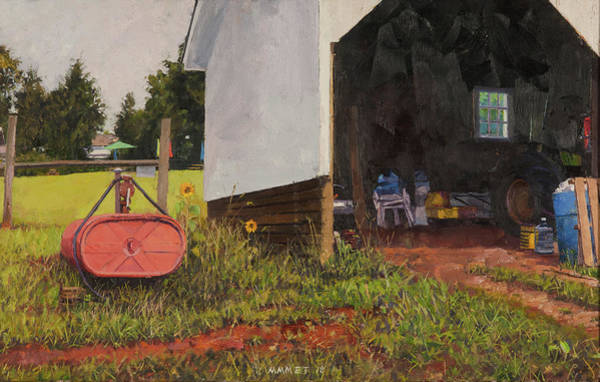 Wall Art - Painting - Fuel Tank And Equipment Shed At Blenheim Vineyard by Edward Thomas