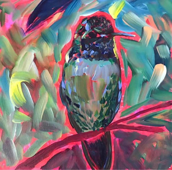 Wall Art - Painting - Funky Bird by Ann Lutz