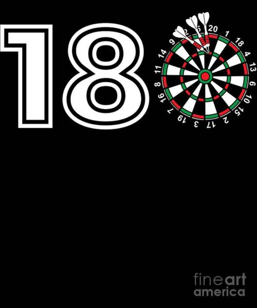 Amateur Digital Art - Funny Darts Gift Gift For Dart Players On The Oche Professional And Amateur Tournament Bullseye Throw by Martin Hicks