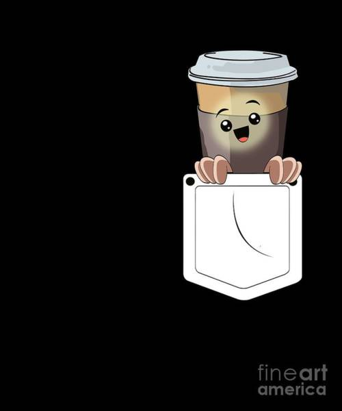 Wall Art - Digital Art - Funny Latte Macchiato Pocket Coffee Barista Gift by MUC Designs
