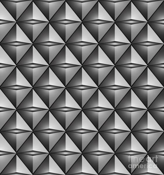 Wall Art - Digital Art - Futuristic Triangle-3d -vector by Atiketta Sangasaeng