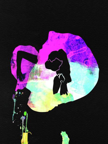 Pop Mixed Media - Gaga Watercolor by Naxart Studio