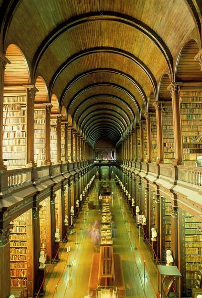 County Dublin Photograph - Gallery Of The Old Library, Trinity by Bruno Barbier / Robertharding