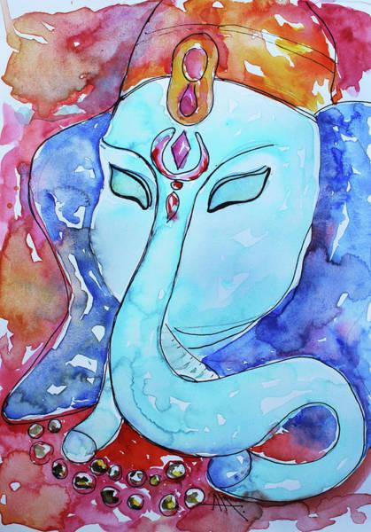 Ganesh Chaturthi Painting - Ganesha by Anna Marinova