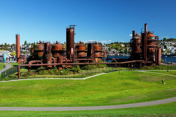 Wall Art - Photograph - Gas Works Park On Sunny Day, Seattle by Panoramic Images