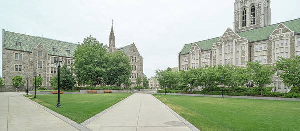 Chestnut Hill Photograph - Gasson Hall At Boston College by Panoramic Images