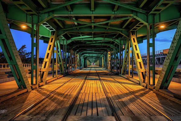 Wall Art - Photograph - Gdanski Bridge By Night In Warsaw by Artur Bogacki