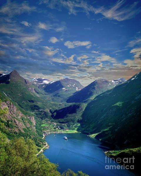 Photograph - Geirangerfjord by Edmund Nagele