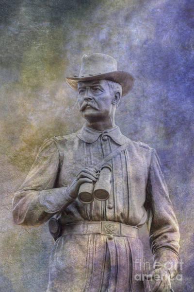 Wall Art - Digital Art - General John Buford Monument Gettysburg  by Randy Steele
