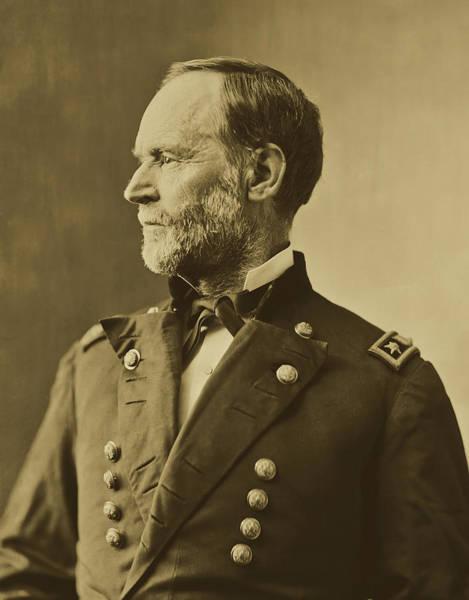 Mathew Photograph - General William Tecumseh Sherman 1860s by Mathew Brady