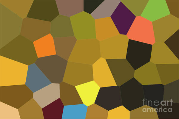 Photograph - Geometric Pattern Of Dark Colors As A Mosaic Of Large Tiles Of A by Joaquin Corbalan