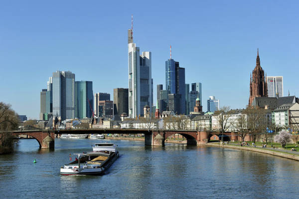 Quayside Photograph - Germany, Hesse, Frankfurt Am Main, View by Mattes René / Hemis.fr