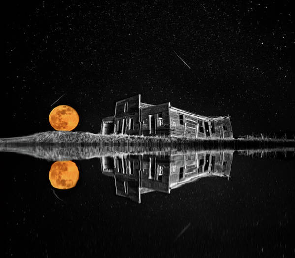 Wall Art - Photograph - Ghost Town Night Stars by Mark Duffy