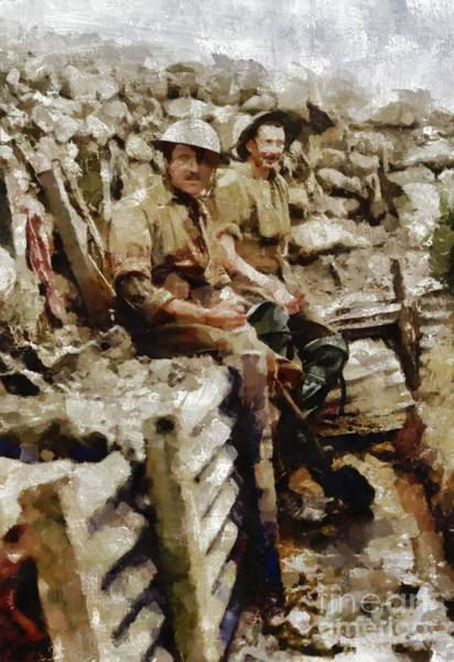 Wall Art - Painting - Ghosts Of World War One by Mary Bassett