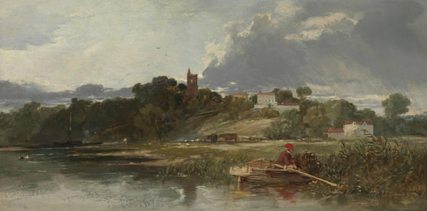 Medway Wall Art - Painting - Gillingham On The Medway  by William James Muller
