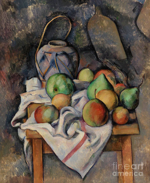 Wall Art - Painting - Ginger Jar by Paul Cezanne