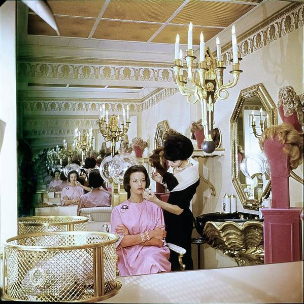 Wall Art - Photograph - Gloria Vanderbilt At The House Of Revlon by Horst P. Horst