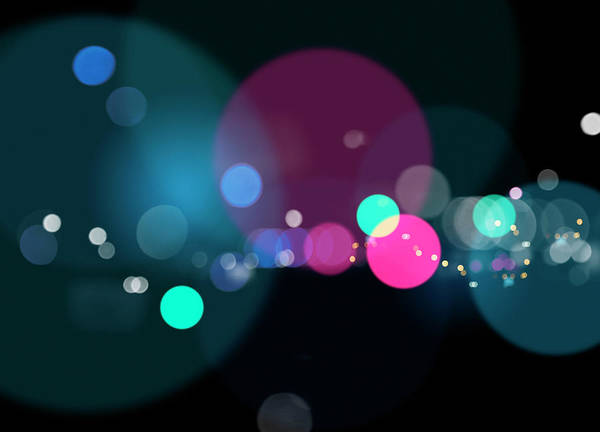 Wall Art - Photograph - Glowing Multi Colored Circles by Ikon Images