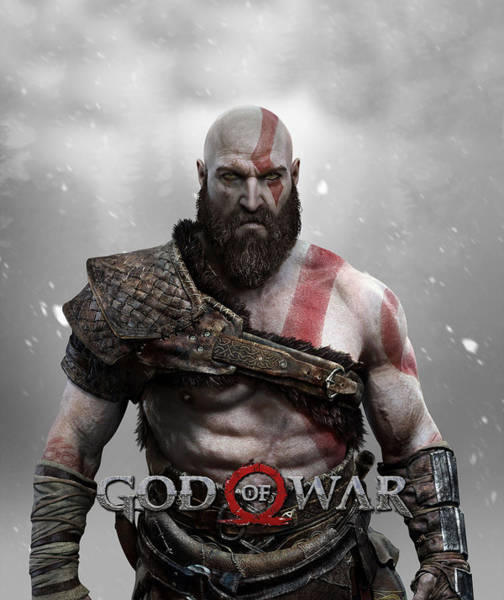 God Of War Wall Art - Digital Art - God Of War Kratos by Geek N Rock