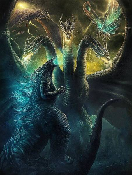 Godzilla Digital Art - Godzilla O Rei Dos Monstros by Geek N Rock