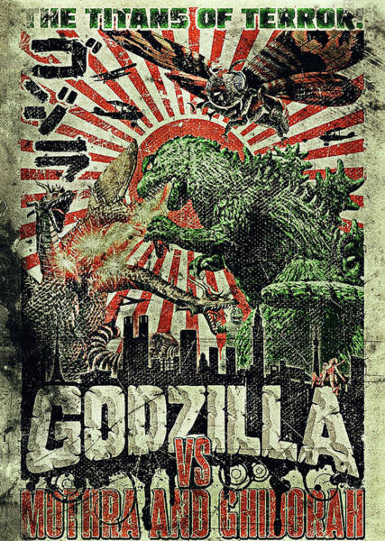 Godzilla Digital Art - Godzilla Vintage Movie Poster by Benjamin Dupont
