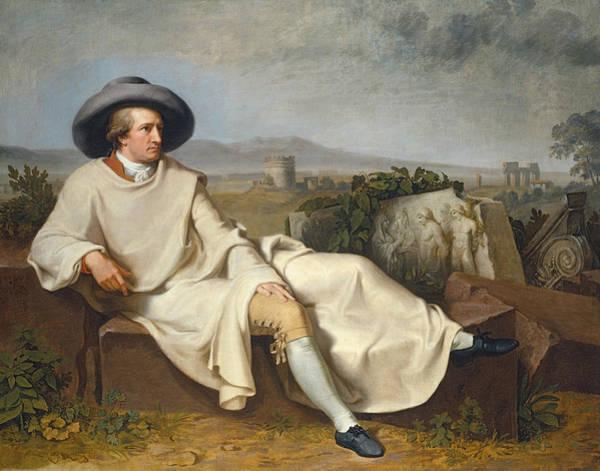 Painting - Goethe In The Roman Campagna by Johann Heinrich Wilhelm Tischbein