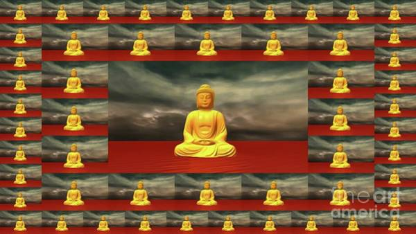 Esoteric Painting - Golden Buddha by Pierre Blanchard