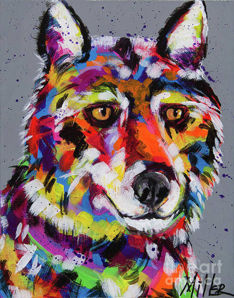 Wall Art - Painting - Golden Eyes by Tracy Miller