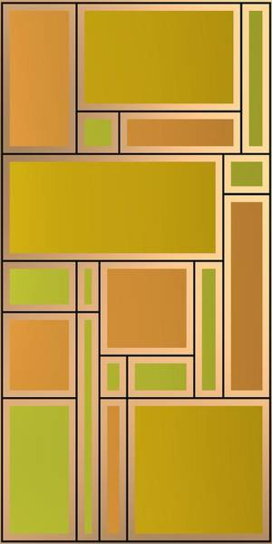 Digital Art - Golden Geometric Composition by Alberto RuiZ