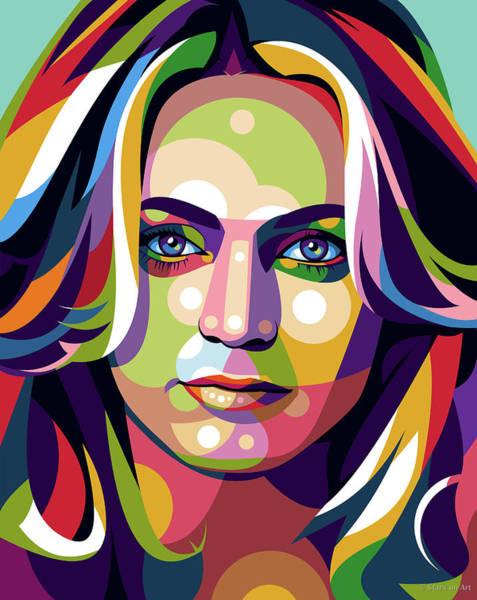 Pop Star Digital Art - Goldie Hawn by Stars-on- Art