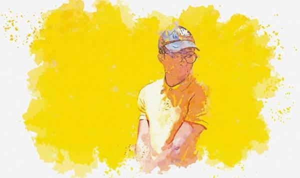 Painting - Golfer -  Watercolor By Adam Asar by Adam Asar