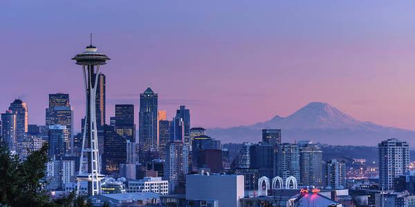Mt Rainier Photograph - Good Evening, Seattle by Dan Mihai