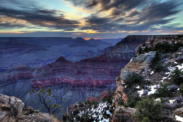 North Rim Photograph - Grand Canyon At Sunset by Costint