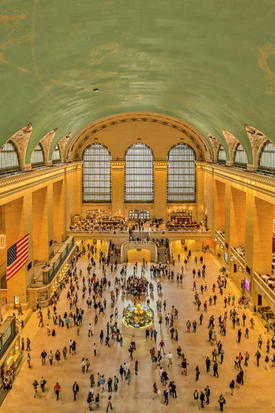 Photograph - Grand Central Terminal Birds Eye View by Susan Candelario