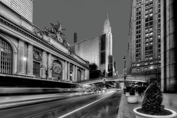 Photograph - Grand Central, The Chriysler Building And Pershing Square by Susan Candelario