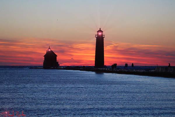 Lighthouse Wall Art - Photograph - Grand Haven Lighthouse by Michael Rucker