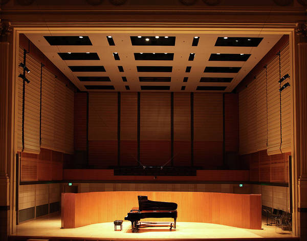 Wall Art - Photograph - Grand Piano On Stage by Yenwen