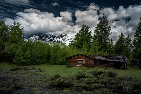 Photograph - Grand Teton Cabin by Jon Glaser