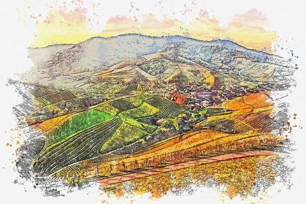Painting - Grassland Watercolor By Ahmet Asar by Ahmet Asar