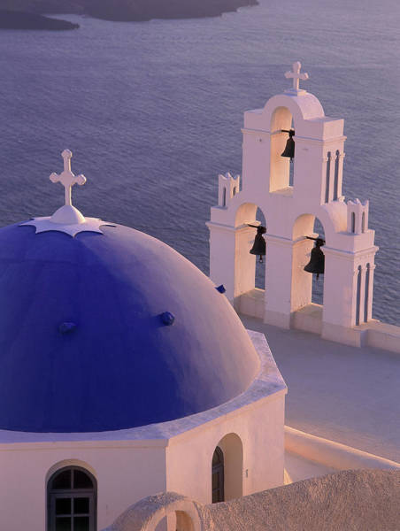Wall Art - Photograph - Greece, Cyclades Islands, Santorini by Religious Images/uig