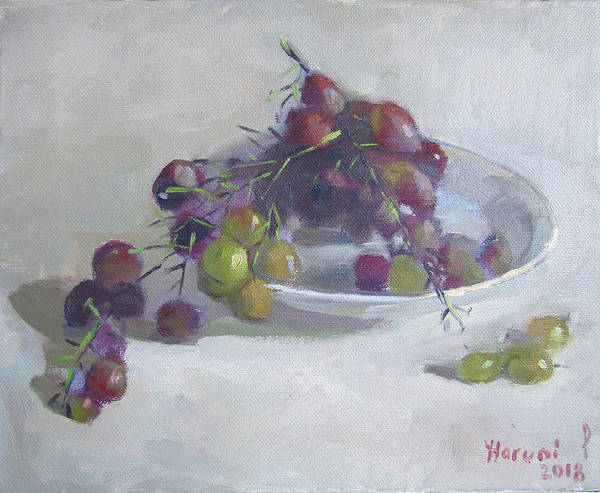 Wall Art - Painting - Greek Grapes by Ylli Haruni