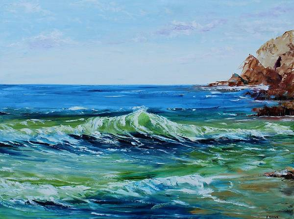 Painting - Green Wave by Kevin Brown