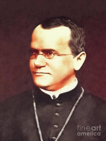 Evolution Painting - Gregor Mendel, Famous Scientist by John Springfield