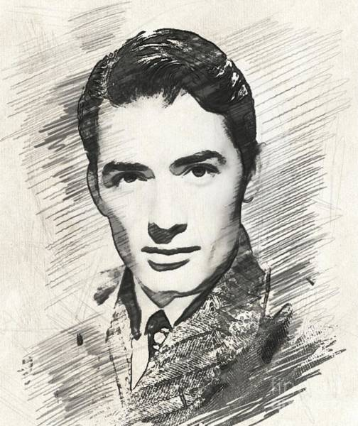 Wall Art - Digital Art - Gregory Peck, Vintage Actor by Esoterica Art Agency